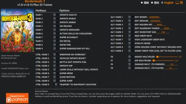 Borderlands 3: Трейнер/Trainer (+33) [1.0 - 1.0.15] {FLiNG}