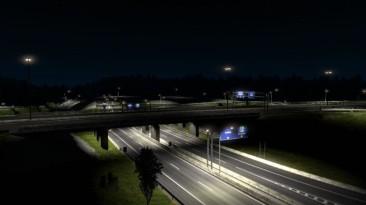 """Euro Truck Simulator 2 """"Карта улучшение городов: Роттердам Брюссель транспортная развязка Кале Дуйсбург v2.5 (1.40.x)"""""""