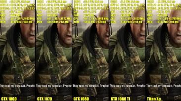 Crysis 3 Titan Xp Vs GTX 1080 TI Vs GTX 1080 Vs GTX 1070 Vs GTX 1060 Сравнение