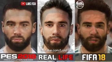 FIFA 18 vs PES 2018 | Сравнение лиц | REAL MADRID FC | FULL HD | LuisFCH