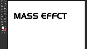"Mass Effect ""Шрифт для фотошопа"""