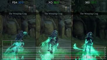"Darksiders 2 Deathinitive Edition ""Сравнение Частоты кадров PS4 vs Xbox One vs Xbox 360 (DigitalFoundry)"""