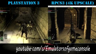 Сравнение графики Demon's Souls: Эмулятор RPCS3 0.0.4 (4K) VS Playstation 3