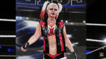 "WWE 2K19 ""Alexa Bliss Harley Quinn Red And Black Attire MOD"""