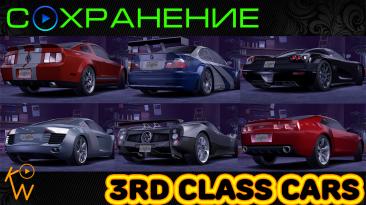 Need for Speed: Carbon: Сохранение/SaveGame (Авто 3-го Класса: BMW M3 GTR, Camaro, Shelby, Pagani, Le Mans, Koenigsegg)