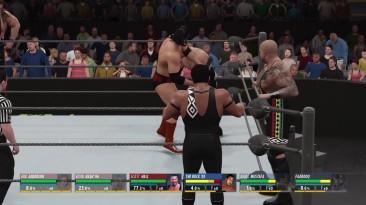 WWE2k16 6 man elimination tag NWO vs NOD (трэш без правил)