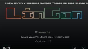 Alan Wake's - American Nightmare: Трейнер/Trainer (+15) [1.03.17.1781: Steam Version] {LinGon}