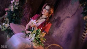 Косплей на Айрис Гейнсборо из Final Fantasy VII - самая красивая цветочница во вселенной