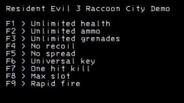 Resident Evil 3: Трейнер/Trainer (+9) [DEMO] {LIRW / GHL}