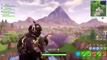 Игрок Fortnite запрыгнул в тележку на лету и расстреливал противников с высоты 250 метров