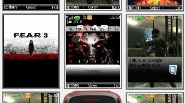 """F.E.A.R. 3 """"Theme for Nokia s40 240x320"""" by Yurax"""