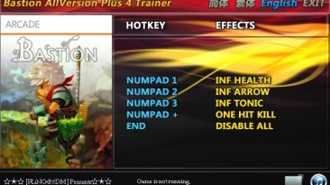 Bastion: Трейнер/Trainer (+4) [All Versions: 1.0 and Others] {FLiNG}