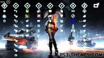 "Battlefield 3  "" Girl - тема для ps3"""