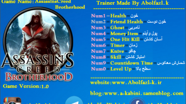Assassin's Creed: Brotherhood: Трейнер/Trainer (+10) [1.0] {Abolfazl.k}