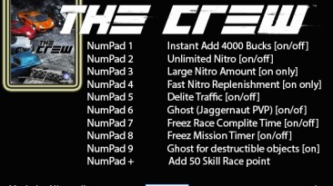 The Crew: Трейнер/Trainer (+10) [0.5b / 406801 - UPLAY ONLY] {Nitroroller}