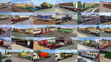 "Euro Truck Simulator 2 ""Пак прицепов и грузов v9.5.3"""