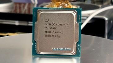 Процессор Intel Core i7-11700K провалил тесты производительности
