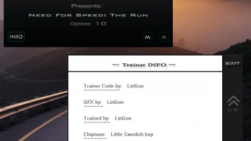 Need for Speed: The Run: Трейнер/Trainer (+10) [1.1.0] {LinGon}