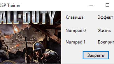 Call of Duty: Трейнер/Trainer (+2) [1.0] {gurkin4}