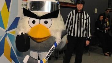 Талисманом Чемпионата Мира по Хоккею 2012 стала подружка Angry Birds