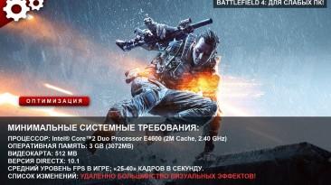 "Battlefield 4 ""для слабых ПК"""