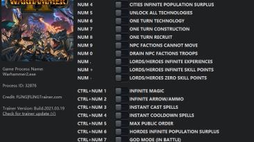 Total War: Warhammer 2: Трейнер/Trainer (+21) [1.0 - 1.11] {FLiNG}