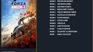 Forza Horizon 4: Трейнер/Trainer (+12) [1.474.683.0 (STEAM) - v1.474.687.2 (UWP)] {ArmY of 0n3}