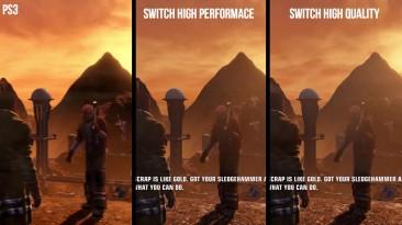 Сравнение графики Red Faction Guerrilla на Switch и PS3