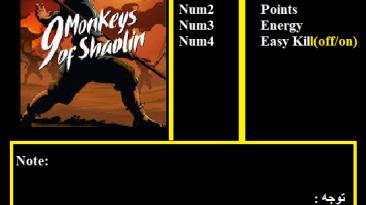 9 Monkeys of Shaolin: Трейнер/Trainer (+4) [1.0] {Abolfazl.k}