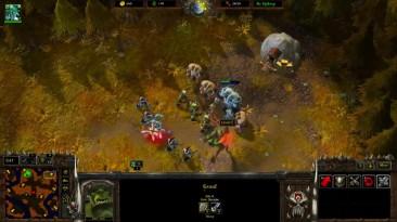 Геймплей в мод Warcraft: Armies of Azeroth, за людей против орков.