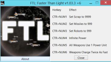 FTL ~ Faster Than Light: Трейнер/Trainer (+6) [1.03.3] {gir489}