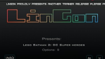 Lego Batman 2 - DC Super Heroes: Трейнер/Trainer (+9) [1.0] {LinGon}