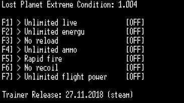 Lost Planet Extreme Condition: Трейнер/Trainer (+7) [1.004] {LIRW / GHL}