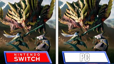 Monster Hunter Rise - видео сравнения графики Nintendo Switch и ПК