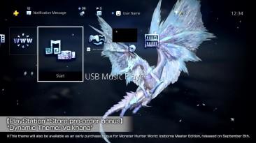 Динамическая тема Monster Hunter World: Iceborne для PS4