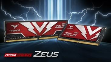 TEAMGROUP представила игровую память T-FORCE ZEUS DDR4 и T-FORCE ZEUS SO-DIMM