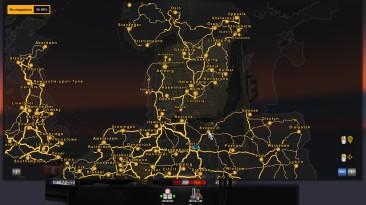 Euro Truck Simulator 2: Сохранение/SaveGame (100% карты, 400 миллионов, 300 машин, 70 гаражей, 48 уровень)