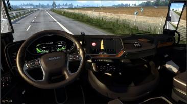 """Euro Truck Simulator 2 """"Пак подсветок приборной панели для DAF 2021 (1.40.x)"""""""