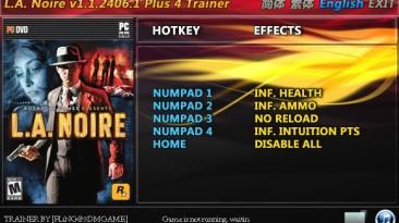 L.A. Noire: Трейнер/Trainer (+4) [1.0.2396/1.1.2406.1: Fixed] {FLiNG}
