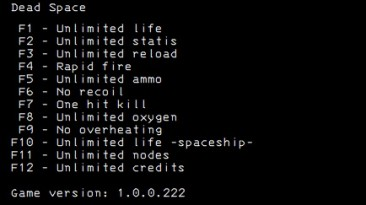 Dead Space: Трейнер/Trainer (+12) [Steam] {LIRW / GHL}