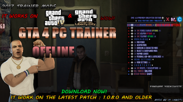 Grand Theft Auto 4 (GTA 4): Чит-Мод/Cheat-Mode (Offline Script Trainer NEW By Im HaxoTV) [1.0.8.0]