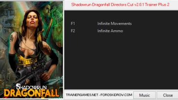 Shadowrun: Dragonfall - Directors Cut: Трейнер/Trainer (+2) [2.0.1] {TRAiNERGAMES}