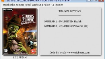 Stubbs the Zombie in Rebel without a Pulse: Трейнер (+2) [1.02 - STEAM] {h4x0r}