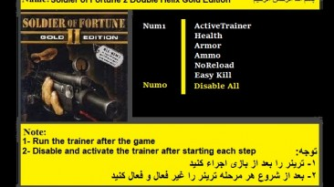 Soldier of Fortune 2: Double Helix: Трейнер/Trainer (+5) [1.0] {Abolfazl.k}
