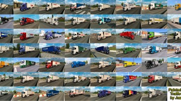 """Euro Truck Simulator 2 """"Пак грузовиков со скинами реальных компаний в траффик v12.8"""""""