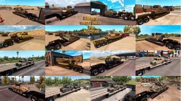 """American Truck Simulator """"Пак прицепов с военной техникой v1.3.6"""""""