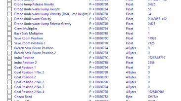 Axiom Verge 2: Таблица для Cheat Engine [1.02] {ndck76}