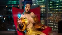 Косплей девушки в стиле Неокитч из Cyberpunk 2077