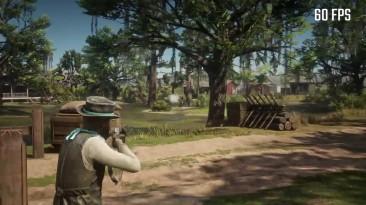 Red Dead Redemption 2 сравнение 30 FPS и 60 FPS