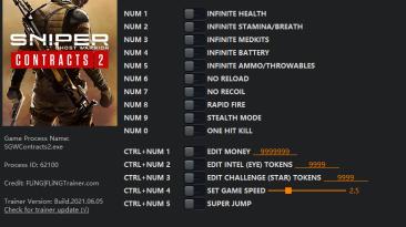 Sniper: Ghost Warrior Contracts 2: Трейнер/Trainer (+15) [1.0] {FLiNG}